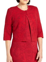 Stizzoli Plus Size Embroidered Knit Jacket