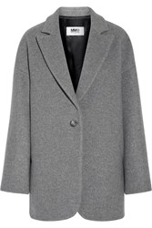 Maison Martin Margiela Wool Blend Felt Coat Gray