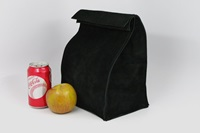 Leather Lunch Bag Black It's Fun It's By Homesteadleatherllc
