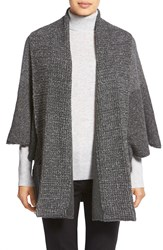 White Warren Shawl Collar Poncho Style Cardigan Slate Carbon