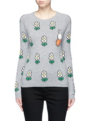 Chinti And Parker X Miffy 'Miffy Daisy' Cashmere Sweater Multi Colour