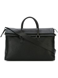 Salvatore Ferragamo Double Flap Tote Black