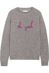 Chinti And Parker Oh Yeah Intarsia Cashmere Sweater Gray
