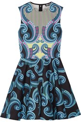 Holly Fulton Kiki Printed Cotton Blend Mini Dress