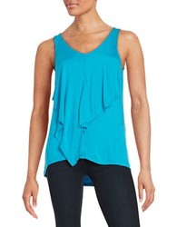 Kensie Ruffled Tank Top Blue