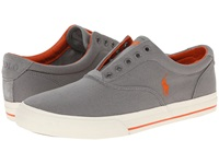 Polo Ralph Lauren Vito Museum Grey Canvas Suede Men's Lace Up Casual Shoes Gray