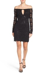 Jump Apparel Women's Lace Off The Shoulder Body Con Dress
