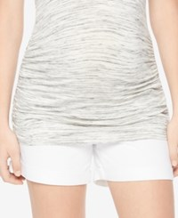 Motherhood Maternity Pull On Shorts White