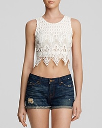 Lush Top Lace Cropped Shell