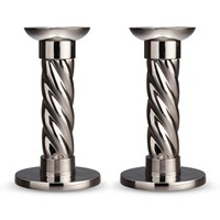 L'objet Carrousel Candlesticks Set Of 2 Stainless Steel