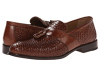 Johnston And Murphy Stratton Woven Tassel Mahogany Italian Calfskin Men's Slip On Dress Shoes Burgundy