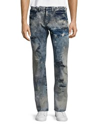 Prps Barracuda Distressed Tie Dye Jeans Blue Size 34