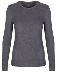 Cuddl Duds Long Sleeve Crew Neck Top Charcoal