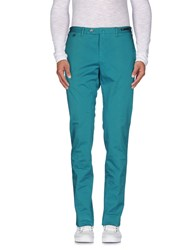Pt01 Trousers Casual Trousers Men Turquoise