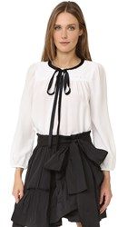 Marc Jacobs Silk Blouse Ivory