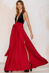 Nasty Gal Lioness Wildfire Maxi Skirt