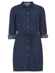Dorothy Perkins Fitted Shirt Dress Blue
