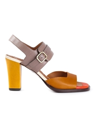 Chie Mihara Buckled Plateau Sandals Yellow And Orange