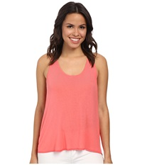 Splendid Drapey Lux Tank Top Coral Women's Sleeveless