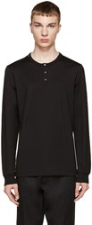 Dolce And Gabbana Black Long Sleeve Henley