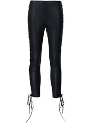 Haider Ackermann Lace Up Leggings Black