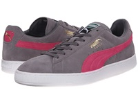 Puma Suede Classic Steel Gray Fluo Pink White Men's Shoes