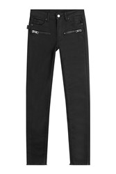 Zadig And Voltaire Zip Front Jeans Black