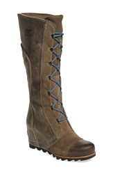 Sorel Women's 'Cate The Great' Waterproof Wedge Boot Pebble