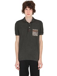 Bob Strollers Cold Washed Cotton Pique Polo Shirt