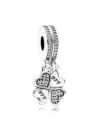 Pandora Design Charm Sterling Silver And Cubic Zirconia Best Friends Forever Moments Collection