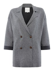 Part Two Stylish Crafted Jacket And Slightly Cropped Sleev Grey
