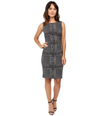 Norma Kamali Sleeveless Shirred Waist Dress Illusion Women's Dress Taupe