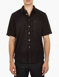 Our Legacy Black Terry Cloth Shirt