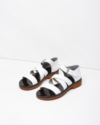 Robert Clergerie Boris Sandal White