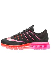 Nike Performance Air Max 2016 Cushioned Running Shoes Black Multicolor Noble Red Bright Crimson Pink Blast