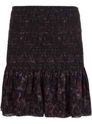 Derek Lam 10 Crosby Fitted Ruffled Short Skirt Multicolour
