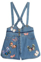 Valentino Denim Overalls Blue