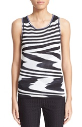 Missoni Sleeveless Knit Shell Black White