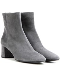 Prada Suede Ankle Boots Grey