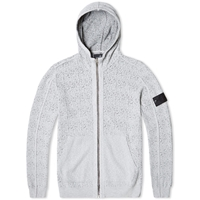 Stone Island Shadow Project Garment Dyed Jacquard Weave Hooded Knit Grey