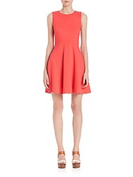 Diane Von Furstenberg Citra Fit And Flare Dress Ocean Coral