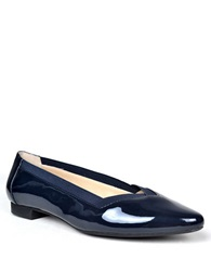 Adrienne Vittadini Sheila Patent Leather Flats Navy Patent