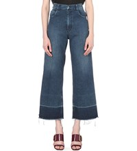 Rachel Comey Legion Wide Released Hem High Rise Jeans Classic Indigo
