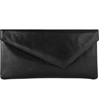 Lk Bennett Leonie Patent Leather Clutch Bla Black
