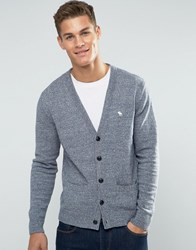 Abercrombie And Fitch Knit Cardigan Icon Logo In Grey Dark Grey