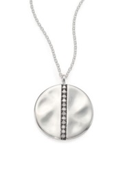Ippolita Glamazon Stardust Diamond And Sterling Silver Large Disc Pendant Necklace