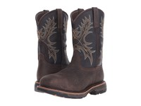 Ariat Workhog Wide Square Toe H2o Ct Bruin Brown Coffee Ct Men's Work Pull On Boots