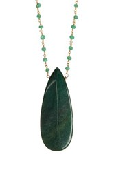 Jami Mint Chalcedony And Green Aventurine Necklace