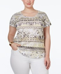 Styleandco. Style And Co. Plus Size Printed Embellished T Shirt Only At Macy's Track More