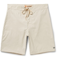 Mollusk Pennant Cotton Blend Boardshorts White